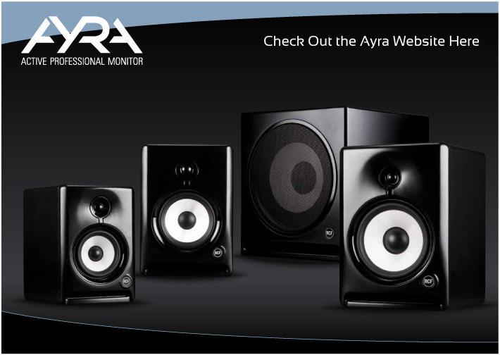 RCF Ayra Active Studio Monitors