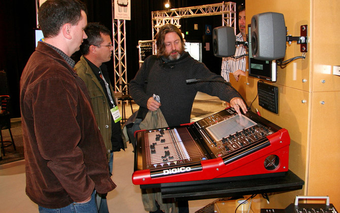 Andy Thompson Showing off the DiGiCo SD9