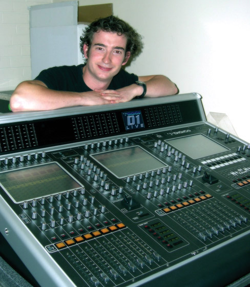 Tom Allen with his DiGiCo D1