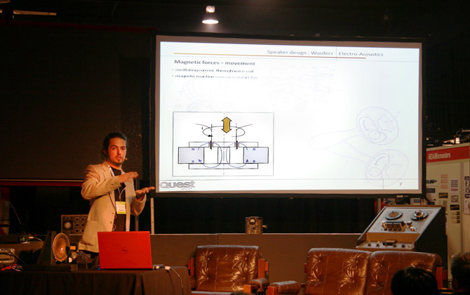 Guillaume Discussing the role of magnets in speakers